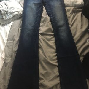 American eagle flare low rise jeans